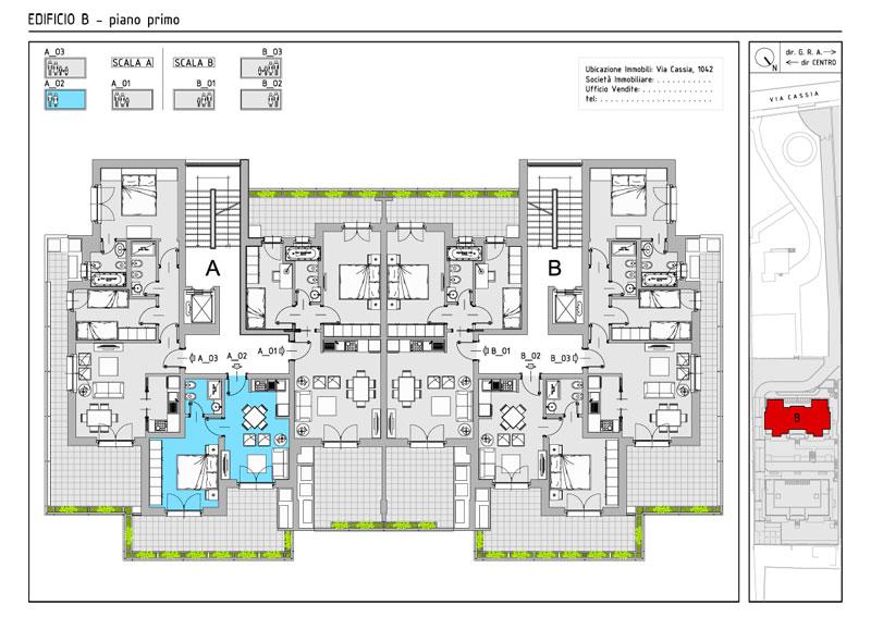 Appartamenti de angelis nuovi stabili for Grandi planimetrie